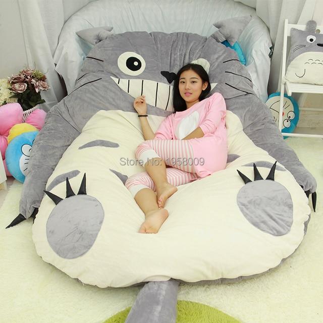 anime bean bag chair dog beds 200cm x 160cm giant totoro beanbag plush bed carpet tatami memory foam pad cartoon mattress oversized