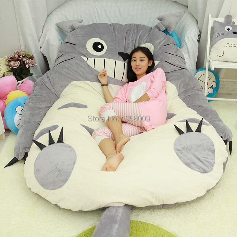 200cm X 160cm Giant Anime Totoro Beanbag Plush Bed Carpet Tatami Memory  Foam Pad Cartoon Mattress