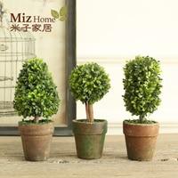 Miz Home 1 Set 3 Botton Artificial Plant Decor Decorative Potted Plant For Living Room Home