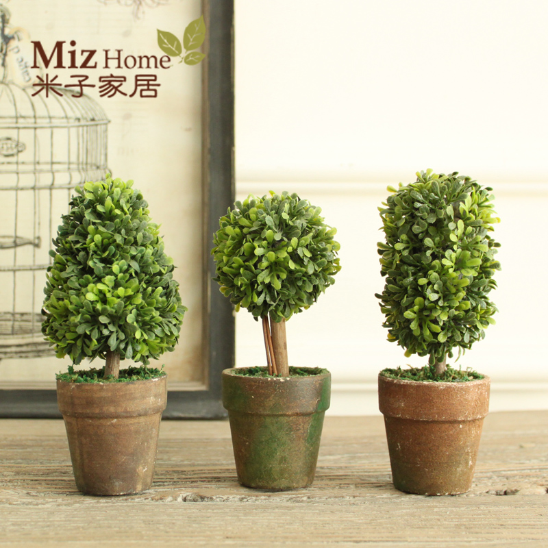 Miz Home 1 Set 3 Botton Mini Artificial Plant Decor