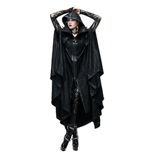 Steampunk Hoodies Long Witch Cape Gothic Priestess Windcoat Women Men Polyester Black Trench Coats Halloween Costume
