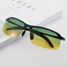 Night Vision Polarized Sunglasses Men Anti-glare Driving Goggles Metal Frame Gradient Shade Sun Glasses day night vision goggles