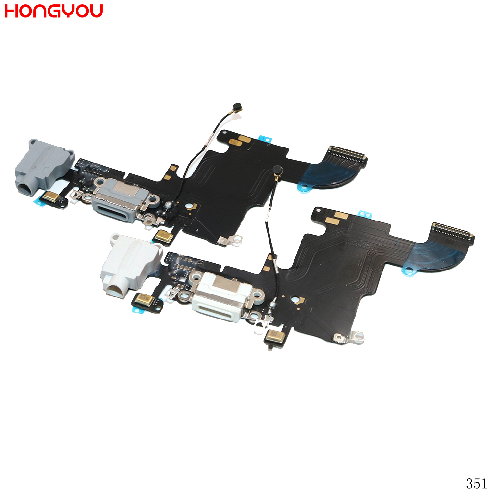 5PCS/Lot For <font><b>6S</b></font> 4.7inch USB Charge Dock Socket Jack Charging Port Connector Flex Cable With Headphone Audio Jack image