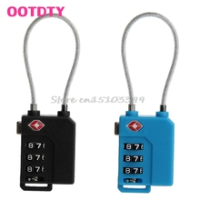 1Pc TSA Resettable 3 Digit Combination Travel Luggage Suit Code Lock Padlock #G205M# Best Quality
