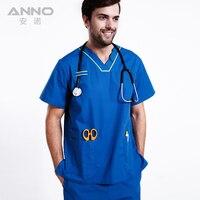 2017 Yaz Doktor Hastane Bodur Elbise Diş Kliniği Kadın Bodur Setleri Güzellik Salonu Hemşire Üniforma Erkek Slim Giyim Işletmek