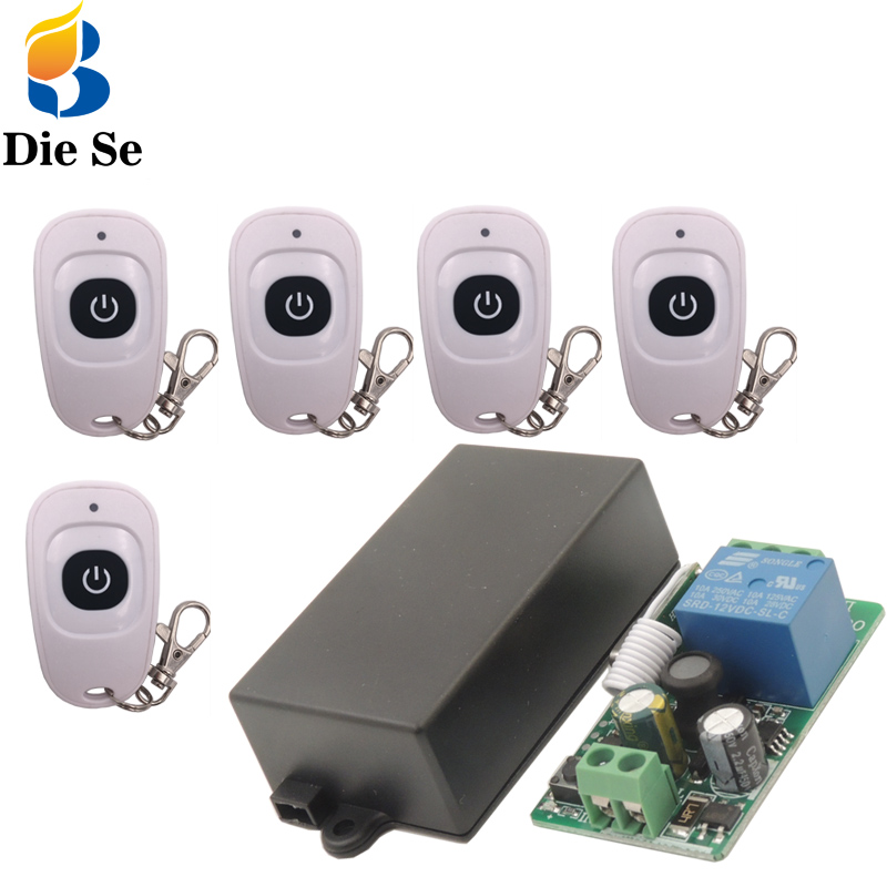 <font><b>433MHz</b></font> Universal <font><b>Remote</b></font> <font><b>Control</b></font> Switch <font><b>AC</b></font> <font><b>220V</b></font> <font><b>10A</b></font> <font><b>1CH</b></font> <font><b>rf</b></font> Relay Receiver and EV1527 Transmitter <font><b>Control</b></font> for <font><b>Wireless</b></font> opener image
