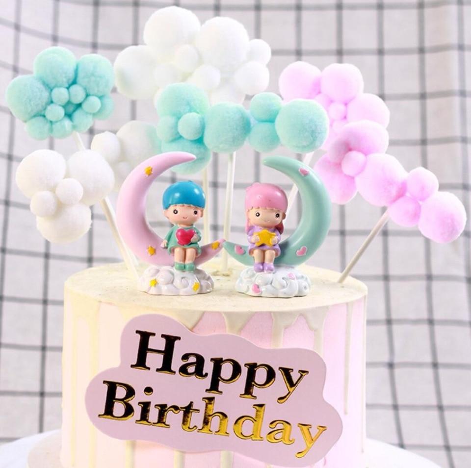 Pleasant Birthday Cake Decor Wedding Party Decoration Props 3D Cloud Cake Funny Birthday Cards Online Hendilapandamsfinfo