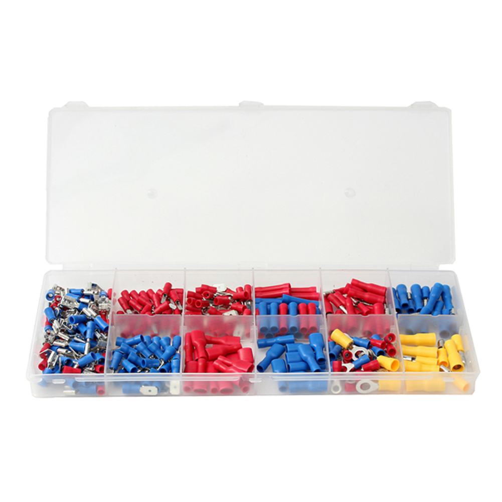 271 ELECTRICAL ASSORTED INSULATED WIRE TERMINALS CRIMP CONNECTORS SPADE DURABLE271 ELECTRICAL ASSORTED INSULATED WIRE TERMINALS CRIMP CONNECTORS SPADE DURABLE