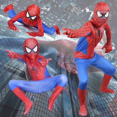 Spiderman Costume 3D Printed Kids  Lycra Spandex jumpsuit Spider-man Costume For Halloween Cosplay Free Shipping