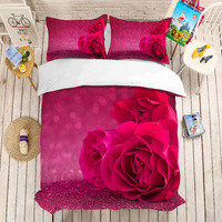 3D print Bedding set Rose world frinds' gift bedding sheet Duvet cover set Home Textiles