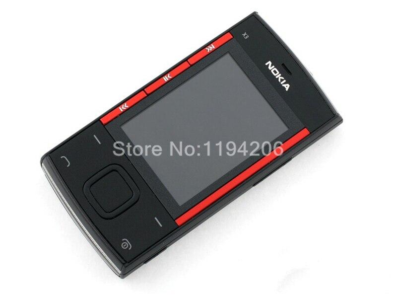 Refurbished nokia x3-00 3.2MP 2.2-inch 860mAh bluetooth camera phone red 1