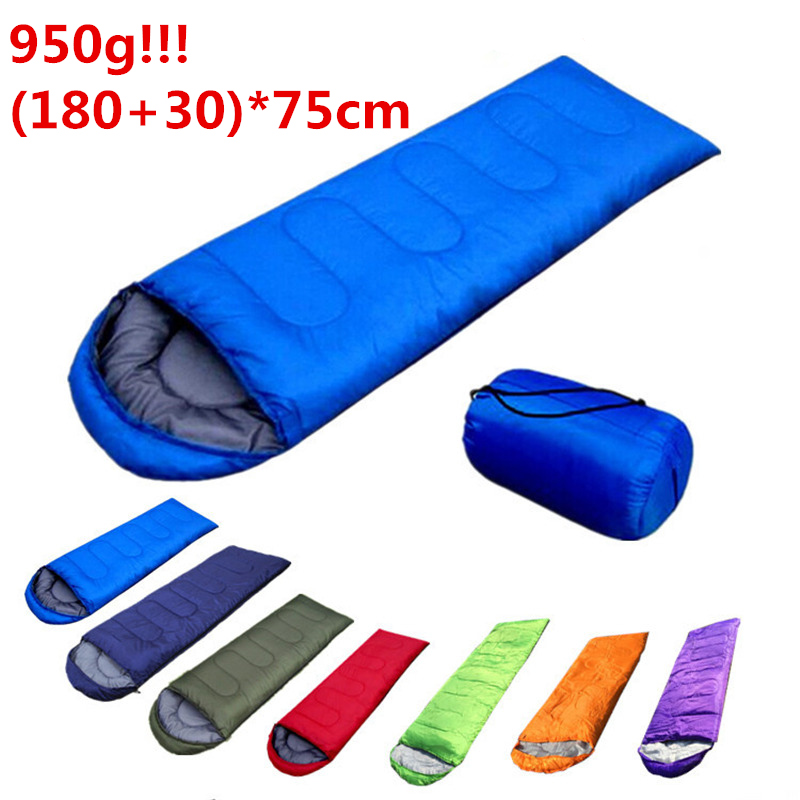 950g (180+30)*75cm Autumn Winter Spring Indoor Outdoor Envelope Sleeping Bag Thermal Hooded Travel Camping Hiking Rest Cover