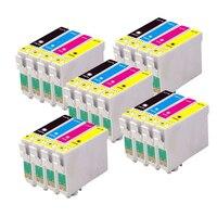 20 Compatible EPSON T1285 Ink cartridge for stylus SX235W SX-235W SX 235W Printer