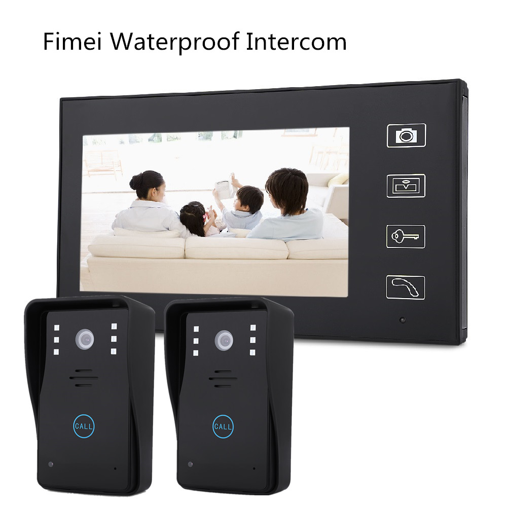 Fimei F2 7 inch TFT 2.4G Wireless Video Door Phone Intercom Doorbell Smart Videophone Intercom Door Bell System With two Camera цены