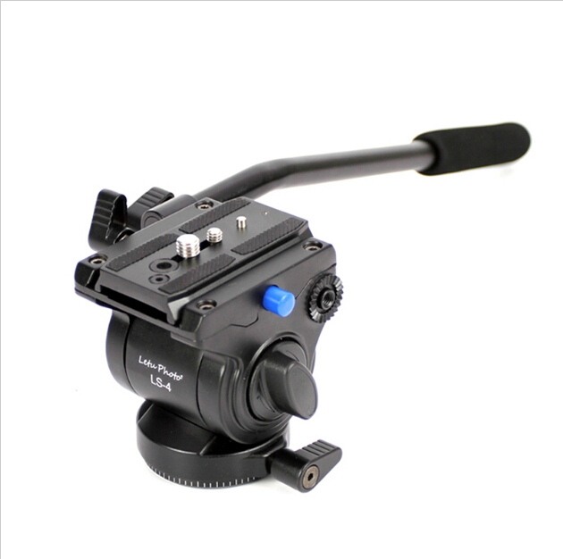 XILETU LS-4 Handgrip Video Photography Video Camera Fluid Drag Tripod Head With Quick Release For DSLR Camera Camcorder Shooting