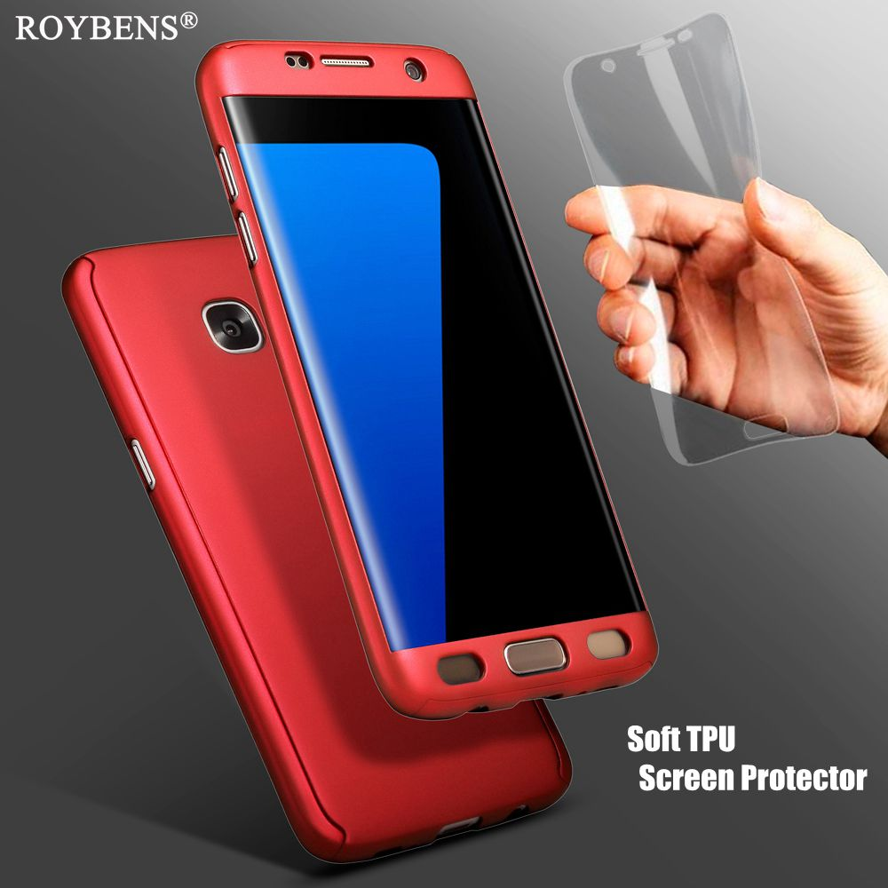 best cheap 0d84b a5f30 for Samsung Galaxy S7 Edge Case S7 Case 360 FULL Coverage Hard PC ...