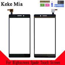 Keke Mia 5.5 Touch Screen For Highscreen Spade Touch Glass Digitizer Panel Front Lens Sensor Capacitive Free Adhesive+Wipes touch panel with matrix for highscreen spade lcd display and touch screen digitizer panel assembly for highscreen spade