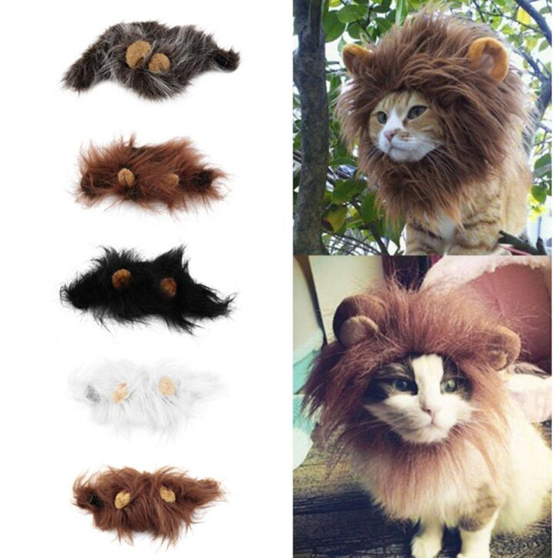 Adorable Lion Mane Costume For Pet Cat Kitten Puppy Wig With Ears Dress Up Clothes Funny Costume