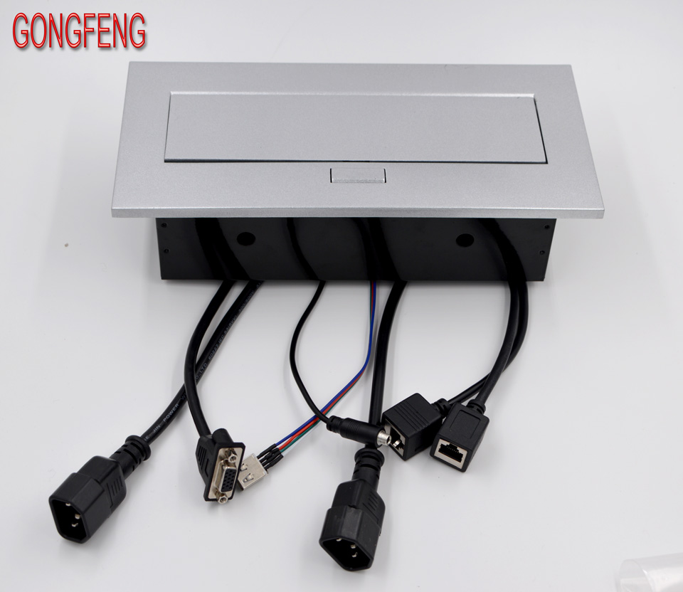 Special Wholesale New Multimedia Desktop Universal Power Jack Hdmi Wiring Free Connection Box Office Conference Table Socket Silvery In Electrical Sockets From