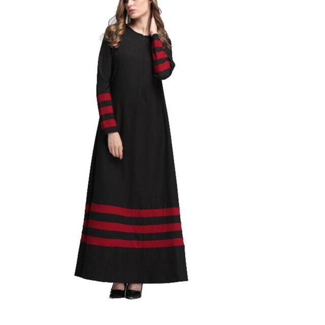 CHAMSGEND Indie Folk dresses summer 2018 Muslim Women Islamic Stripe Print  Plus Size Middle East Long Dress A0707 30 c859d599c497