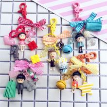 Cute Cartoon Sakura Momoko Keychain Car Key Ring Gift For Women Girls Bag Pendant DIY Figure Charms Key Chains Jewelry цена и фото