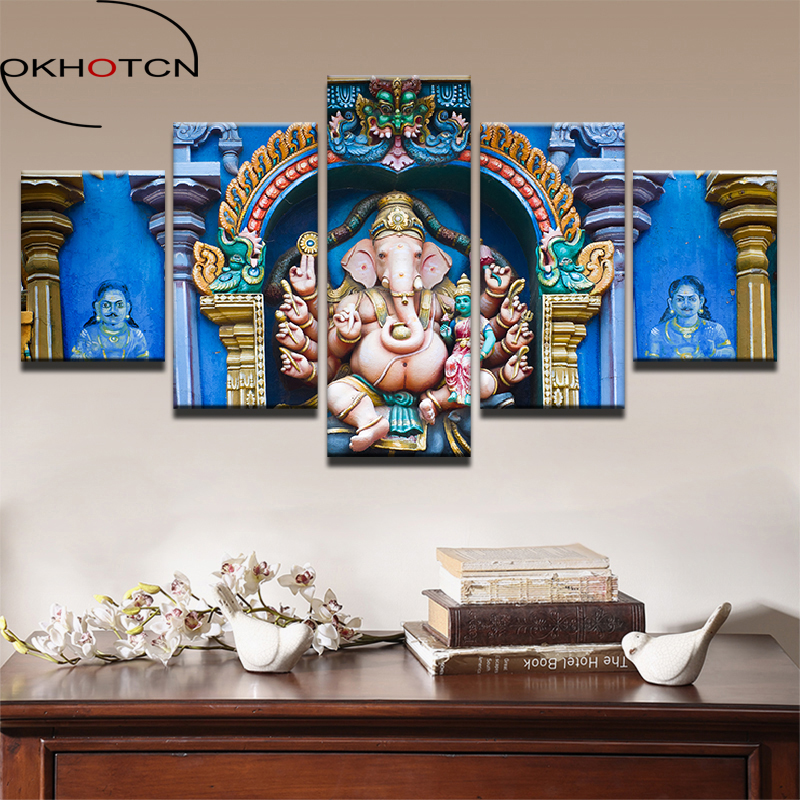 OKHOTCN Framed Wall Art Picture Home Decor HD Prints Living Room 5 ...