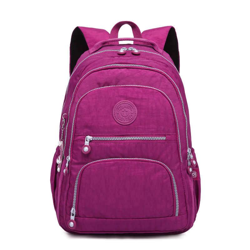 2019 جديد الموضة السيدات حقيبة الكتف حقيبة المدرسة المحمول على ظهره متعددة الوظائف سعة كبيرة حقيبة السفر للرجال النساء
