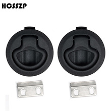 HCSSZP 2 Pieces inch Black Nylon NO Key Flush Pull Slam Latch Lift Handle Deck Hatch Lock