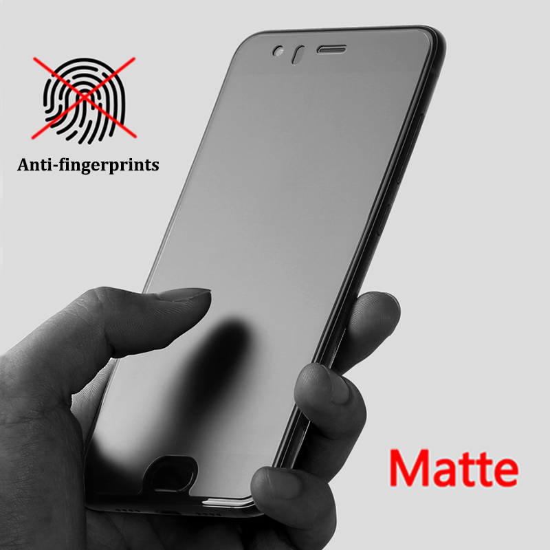 Matte Frosted Tempered Glass For Xiaomi Redmi Note 7 5 6 Pro 5 Plus 4X 5A 6A A2 Lite Mix 2 No Fingerprints Protective Glass Film
