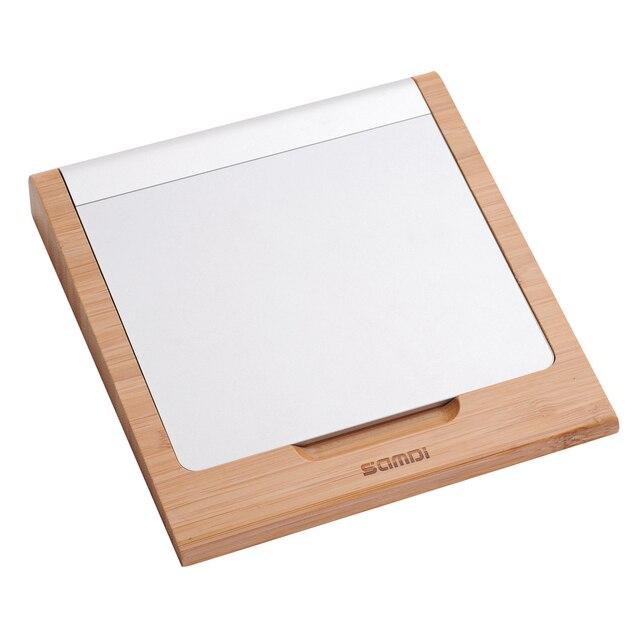 Новое поступление оригинальный бамбук беспроводная клавиатура Bluetooth Trackpad сенсорная панель таблетки док-держатель подставка для Apple , магия трекпад