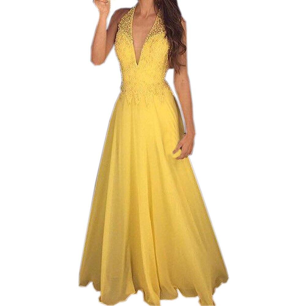 94334ab80b9 Autumn women dress vestidos de fiesta sexy sleeveless halter neck lace dress  gown dress party christmas