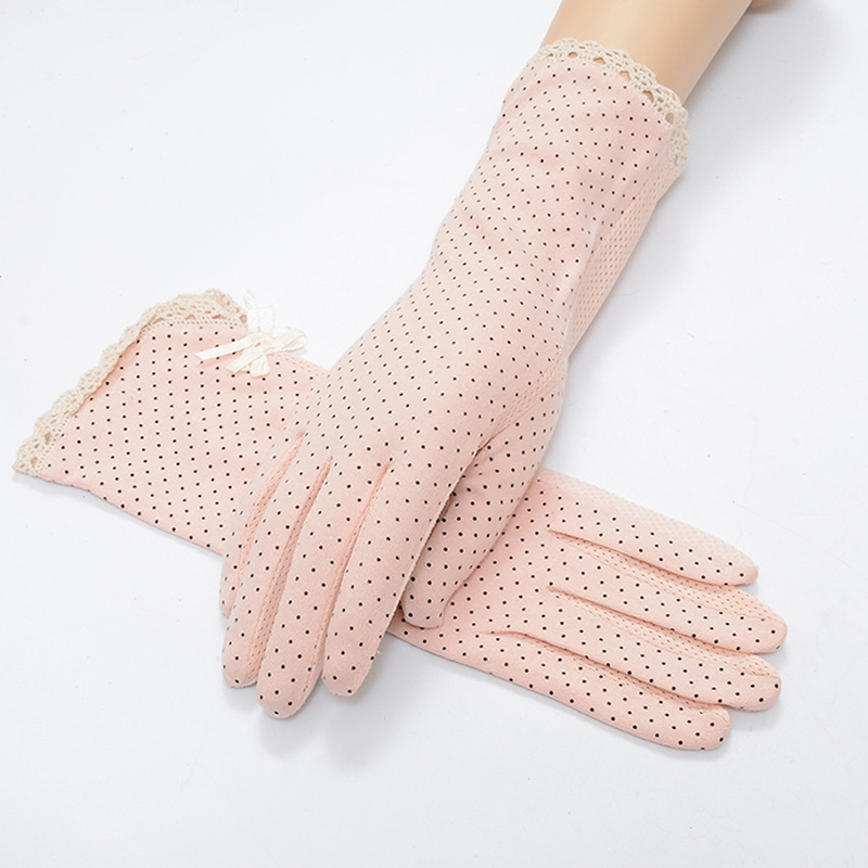Summer Sun Protection Non-slip Glove Women Summer/Autumn Driving Slip-resistant Sunscreen Golves