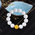 New Natural White Tridacna Canal Beads Bracelet Gifts Lap Bracelets Jewelry Charm  Diybeads