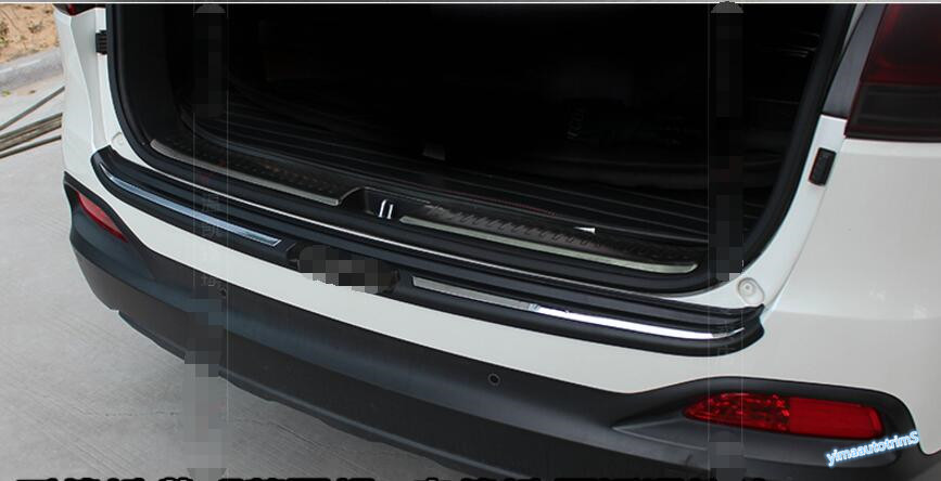 купить New Style For KIA Sorento L 2015 2016 2017 Trunk Door Rear Bumper ( inner + outer ) Sill Protection Plate Cover Trim 2 Pcs / Set недорого