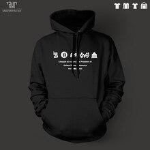 家のカードオリジナルアイコンデザイン男性ユニセックスプルオーバーパーカー100%綿フリースの内側重いフード付きsweatershirt送料無料