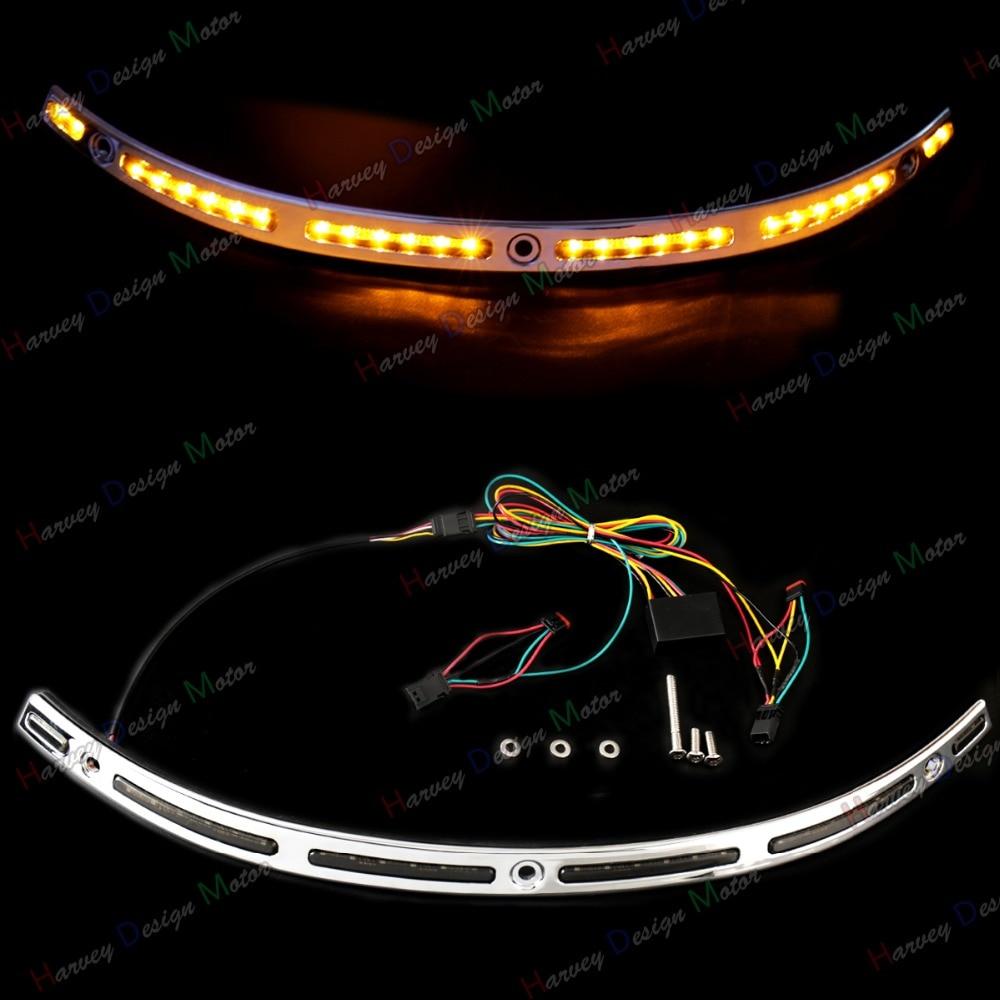 1х LED подсветкой лобовое стекло накладка для Harley гастроли Электра Глайд ЦВО три 14-16 2017