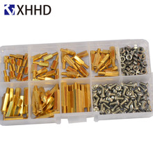 M3 Hex Brass Male Female Standoff Pillar Mount Threaded Hexagon PCB Motherboard Spacer Bolt Screw Nut Assortment Kit Set Box clos 25mm body length 20 pcs screw pcb stand off spacer hex m3 male x m3 female brass hex spacers screw nut promotion wholesale