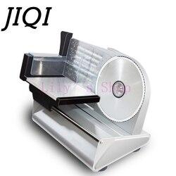 JIQI آلة تقطيع اللحوم الكهربائية الصغيرة لحم الضأن لفة المجمدة لحوم البقر القاطع آلة تقطيع الخضروات الفولاذ المقاوم للصدأ المفرمة 110 فولت 220 فو...