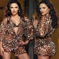 Mulheres Sexy Lingerie roupa de Dormir Quente & Camisolas Bothrobe Robes lace Bra + G Cordas Set Trajes Porn pijamas Night Dress