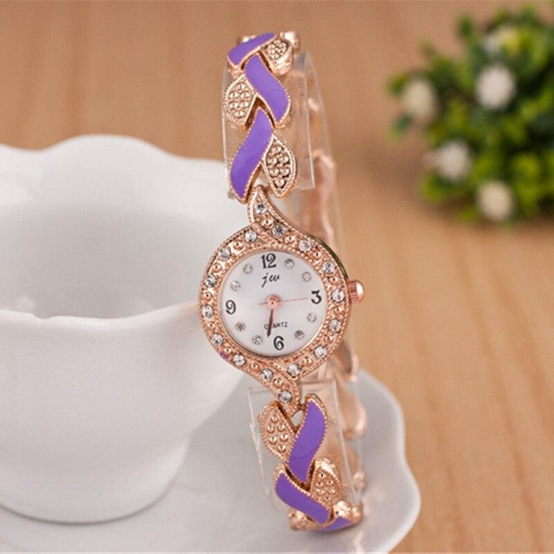 2019 nowy marka JW bransoletki z zegarkiem kobiety luksusowy kryształ sukienka zegarki na rękę zegar moda damska zegarek kwarcowy na co dzień reloj mujer 3