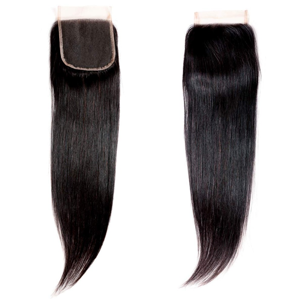 Remy Hair Weaving 1pc/lot Lace Closures & Frontals Logical Yavida Peruvian Straight Hair Closure Straight 4*4 Lace Closure 100% Human Hair Natural Color Non Hair Extensions & Wigs