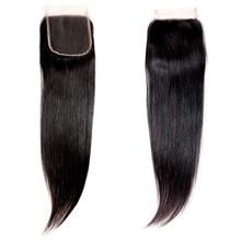YAVIDA Peruvian Straight Hair Closure Straight 4*4 Lace Closure 100% Human Hair Natural Color Non- Remy Hair Weaving 1PC/Lot