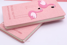 2018 New Pink Unicorn Flamingo Planner Notebook Notepad Journal Lovely Diary Set Children Stationery