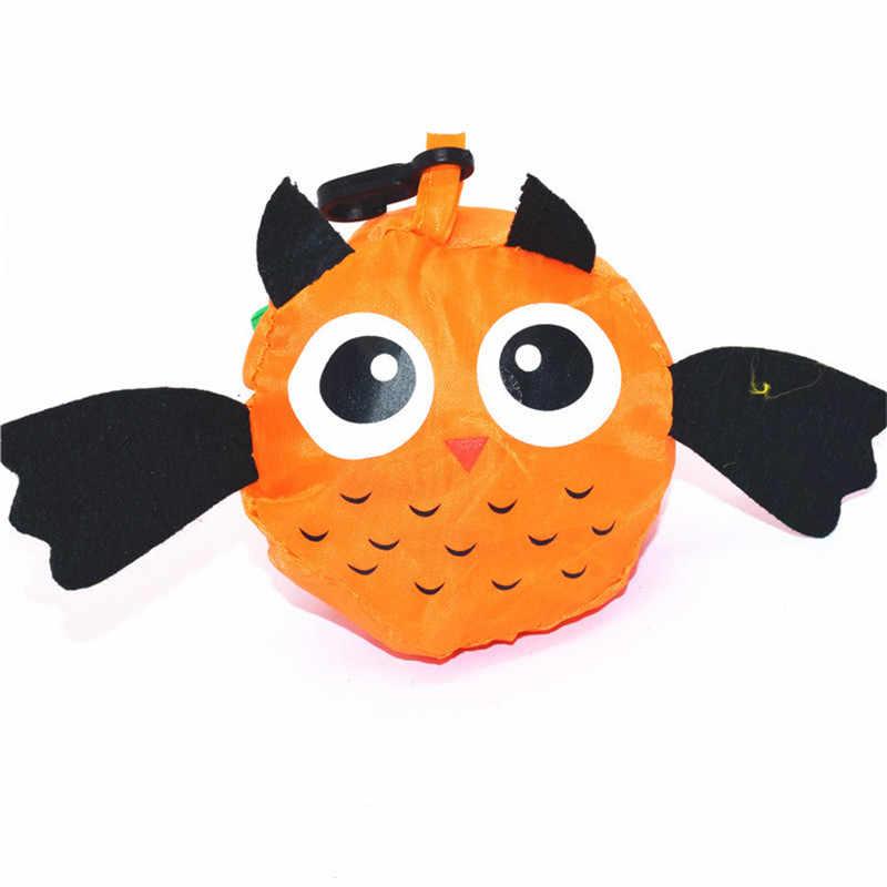 Criativo Bonito Sacos de Compras De Animais Peixes de Viagem Bolsa Dobrável Sacolas de Supermercado de Armazenamento Reutilizável Sacos de Compras Dos Desenhos Animados Eco 1 PCS