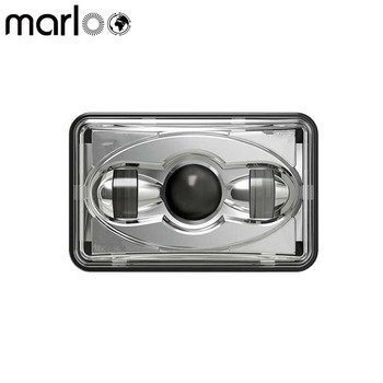 Marloo 4x6 LED Projector Headlight Sealed Beam Replacement HID Xenon H4651 H4652 H4656 H4666 H6545 High / Low Beam (1 Lamp Only)