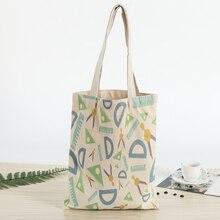 Холщовые сумки шоппинг экологический многоразовый складная сумка на плечо сумка Повседневная эко-сумка школьные сумки через плечо путешествия женщины складные