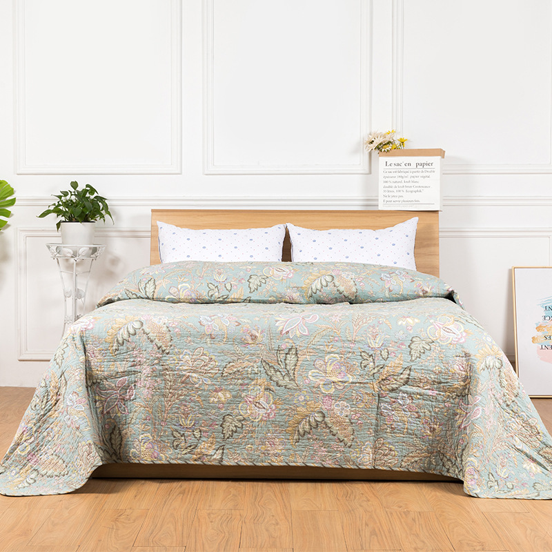 Quality Cotton Bedspread Quilt 1-Piece Coverlet American Printed Quilts Twin Size 230x250cm Quilted Bedding Sofa BlanketQuality Cotton Bedspread Quilt 1-Piece Coverlet American Printed Quilts Twin Size 230x250cm Quilted Bedding Sofa Blanket