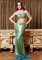 High Qualit Fashion new Halloween cosplay Sex style Blue mermaid dress with Bra The game uniform sexy adult costume for party
