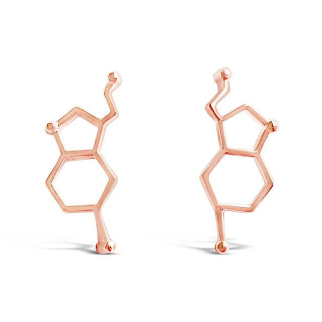 Serotonin Molecule Earring/Ear Climbers