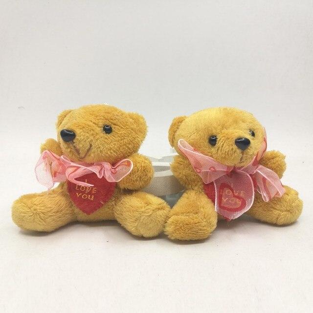 24pcs Mini 6 cm Heart Bear Plush Toys Wedding Gifts Kids Cartoon Toys Plush Dolls & Stuffed Toys Christmas Gifts Couple Gifts